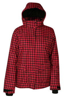 Куртка сноубордическая POWDER ROOM 2011-12 JUPITER JACKET 04G Black/Poppy - Gingham