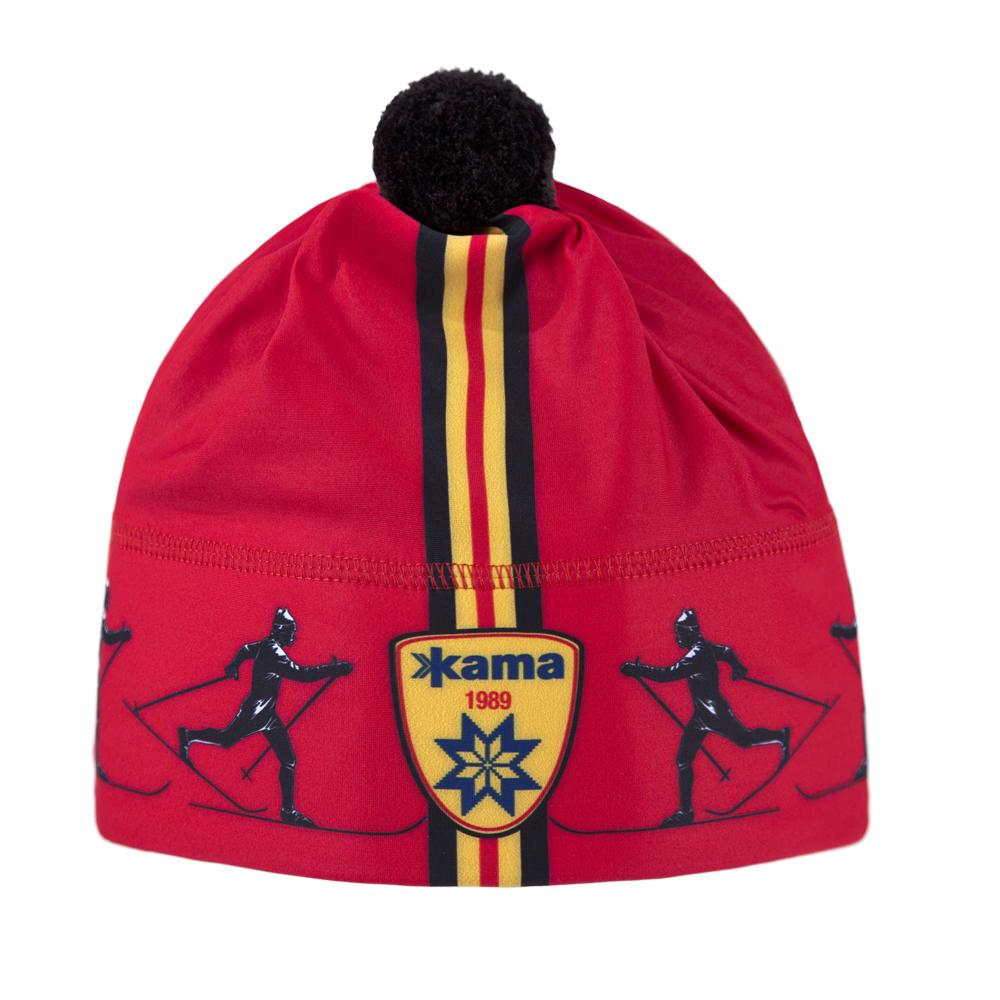 женская шапка kama, красная