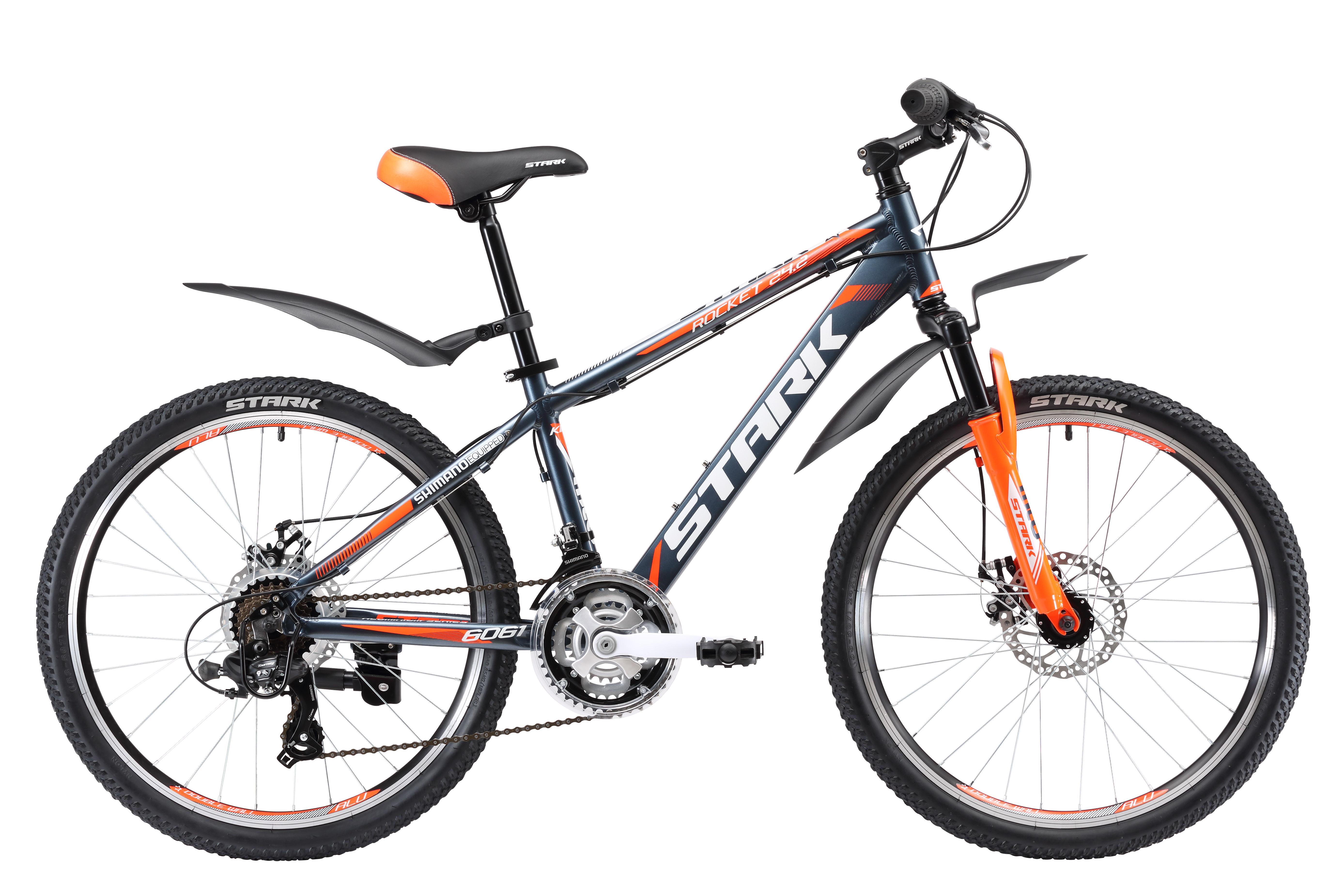 Купить Велосипед Stark Rocket 24.2 D 2017 Серо-Оранжевый Подростковые велосипеды 1317861