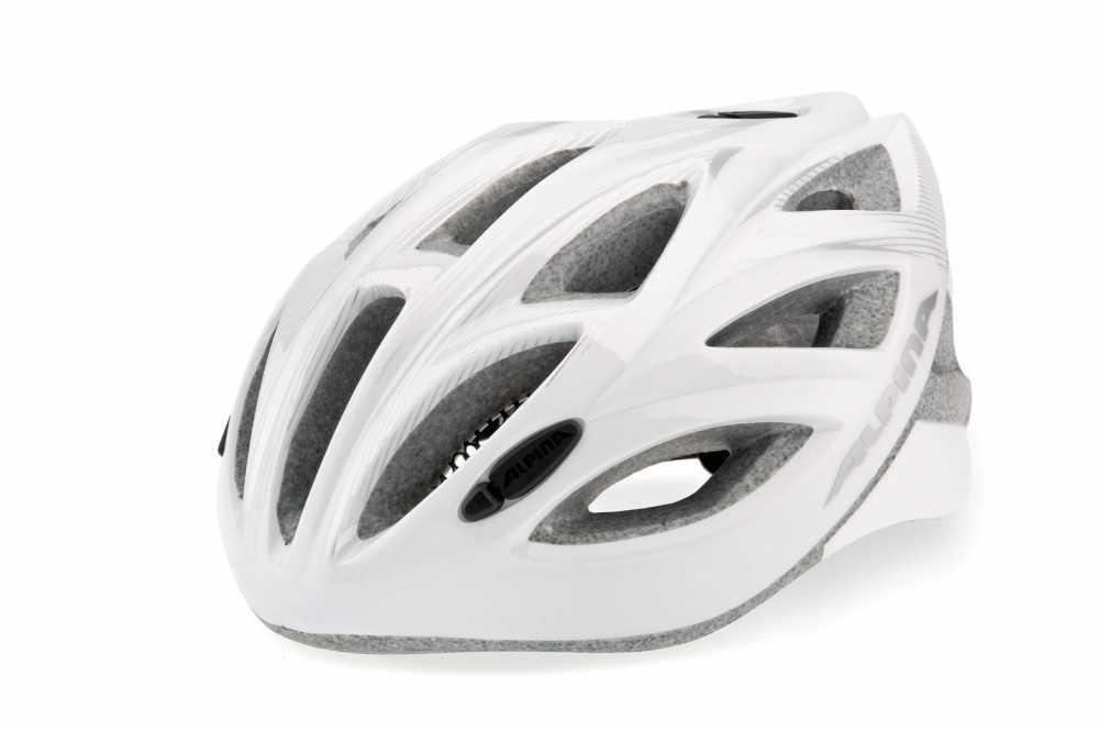 Летний шлем Alpina SMU SOMO Vector white-silver, Шлемы велосипедные, 1180209  - купить со скидкой