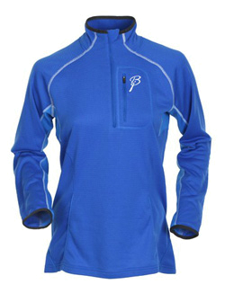 Флис беговой Bjorn Daehlie Half Zip PROGRESS Women (Skydiver/Brilliant Blue/Snow White) синий