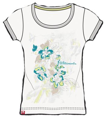 Купить Футболка для активного отдыха Salewa 5 Continents FLEUR CO W AM S/S TEE white (белый) Одежда туристическая 717629