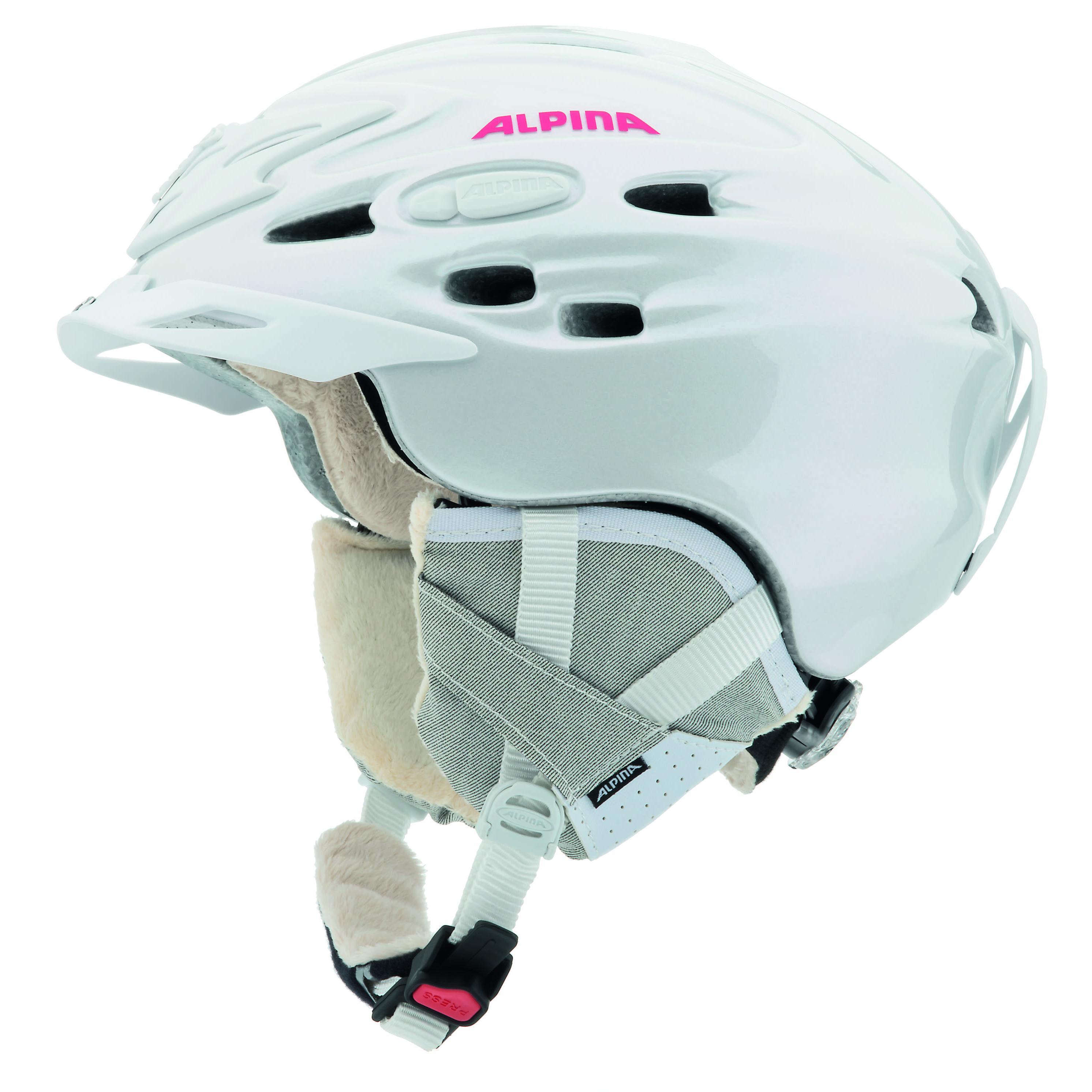 Зимний Шлем Alpina ALL MOUNTAIN SCARA L.E. pearlwhite-pink, Шлемы для горных лыж/сноубордов, 1131037  - купить со скидкой