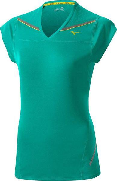 Футболка беговая Mizuno 2014 DryLite Cooltouch Tee зел, Одежда для бега и фитнеса, 1139418  - купить со скидкой
