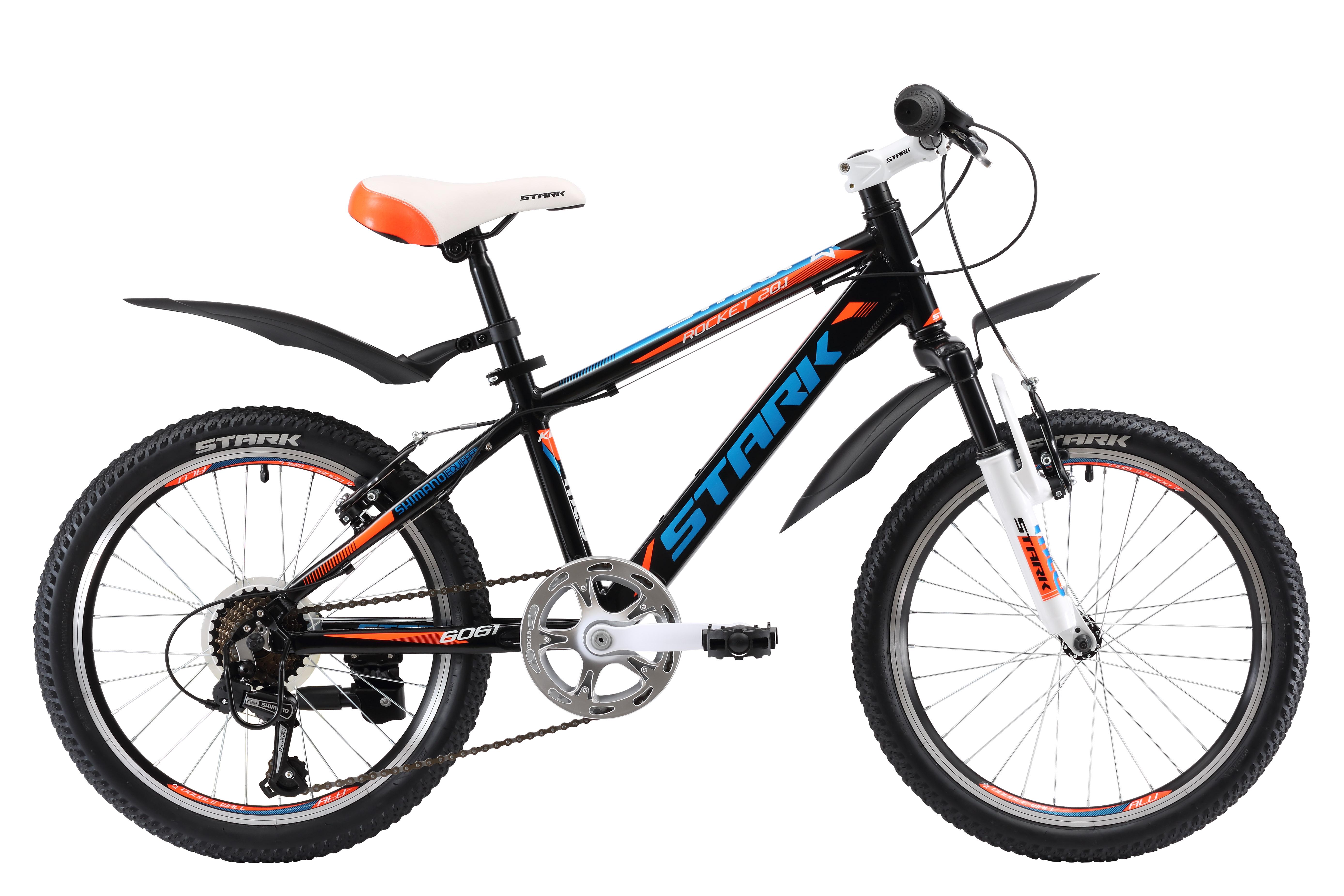 Купить Велосипед Stark Rocket 20.1 V 2017 Черно-Оранжевый, 6-9 лет (колеса 20 ), 1317873