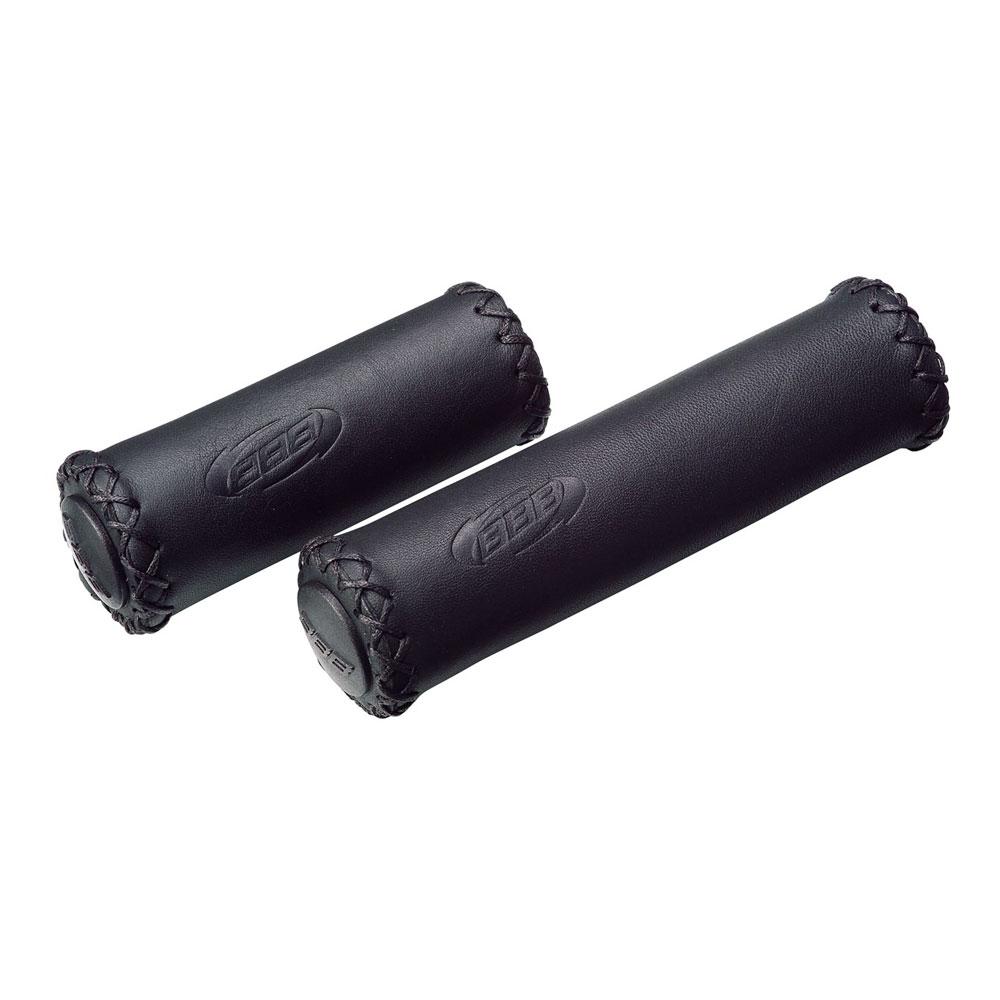 Купить Грипсы Bbb Trekking Exclusive Leather Grips 128Mm/92Mm Черный, унисекс, Рулевое управление