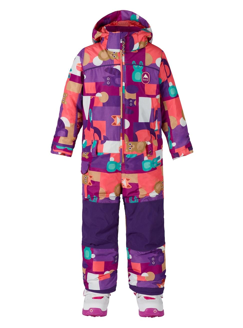 Купить Комбинезон сноубордический BURTON 2017-18 GIRLS MS ILLUSN OP PAPER ANIMALS, Детская одежда, 1354949