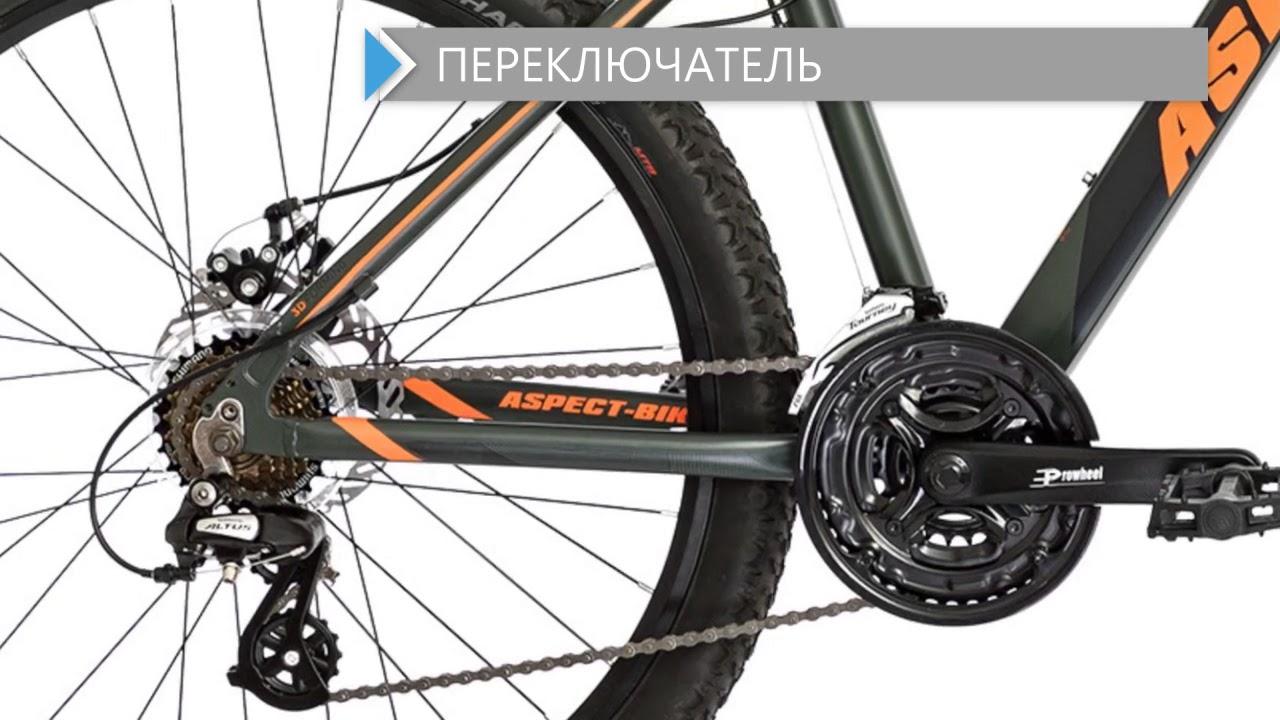 Велосипед Aspect Ideal 2018 Зелено-Оранжевый