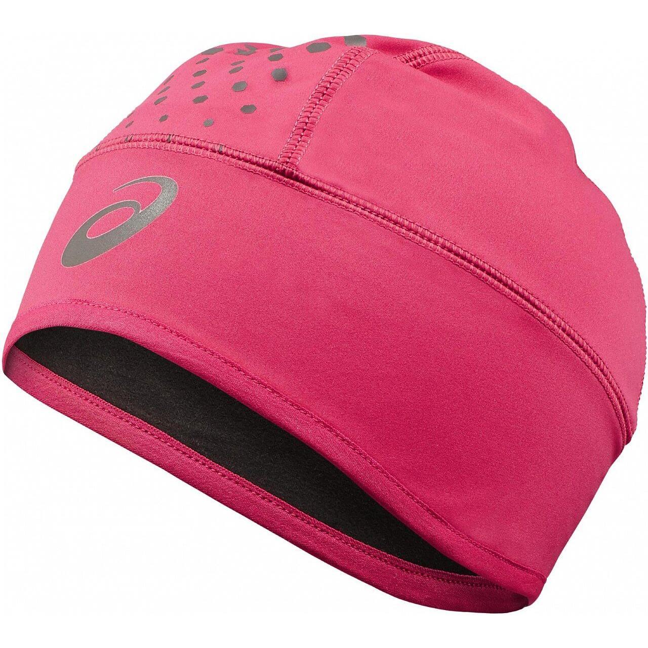 женская шапка asics, розовая
