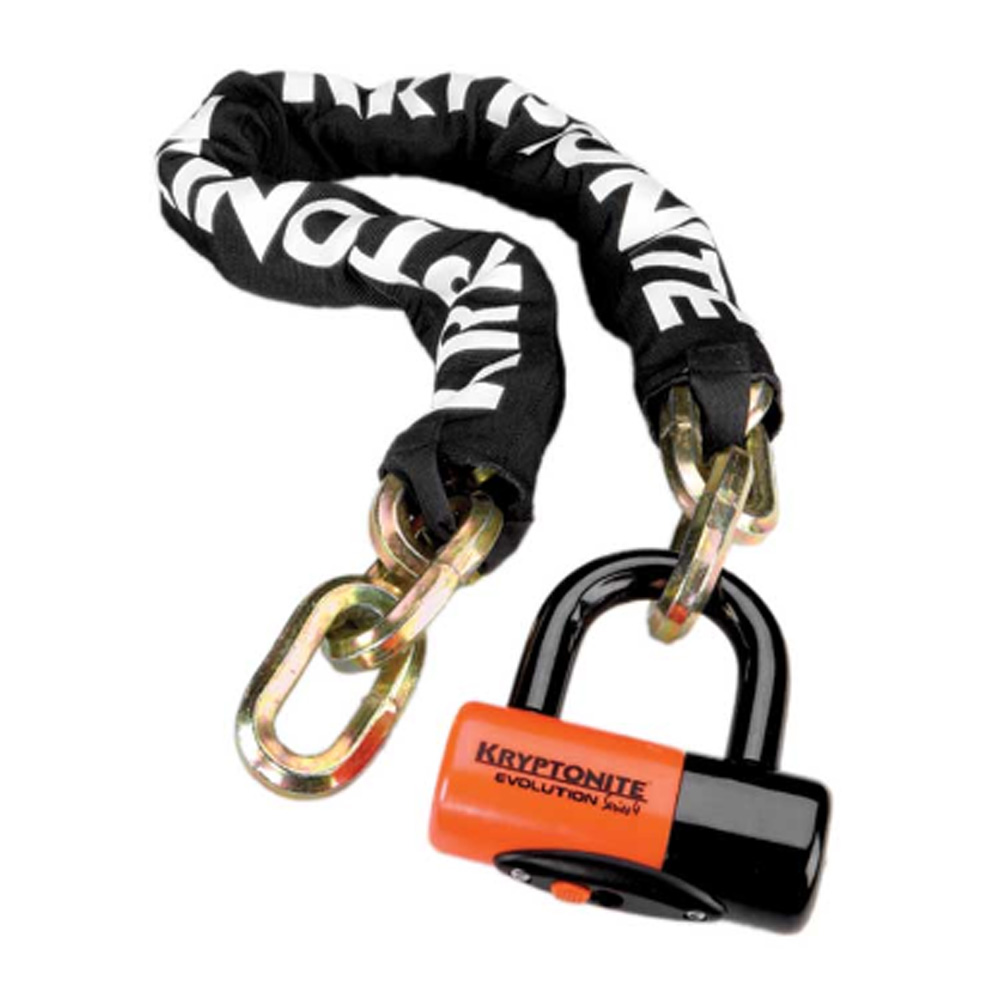 Замок Велосипедный Kryptonite Chains York Chain 1210 (12Mm X 100Cm) With Evs4 Disc 14Mm Shackle -