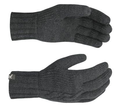 Купить Перчатки флис Salewa GROOCH KNIT GLV carbon, Перчатки, варежки, 839577