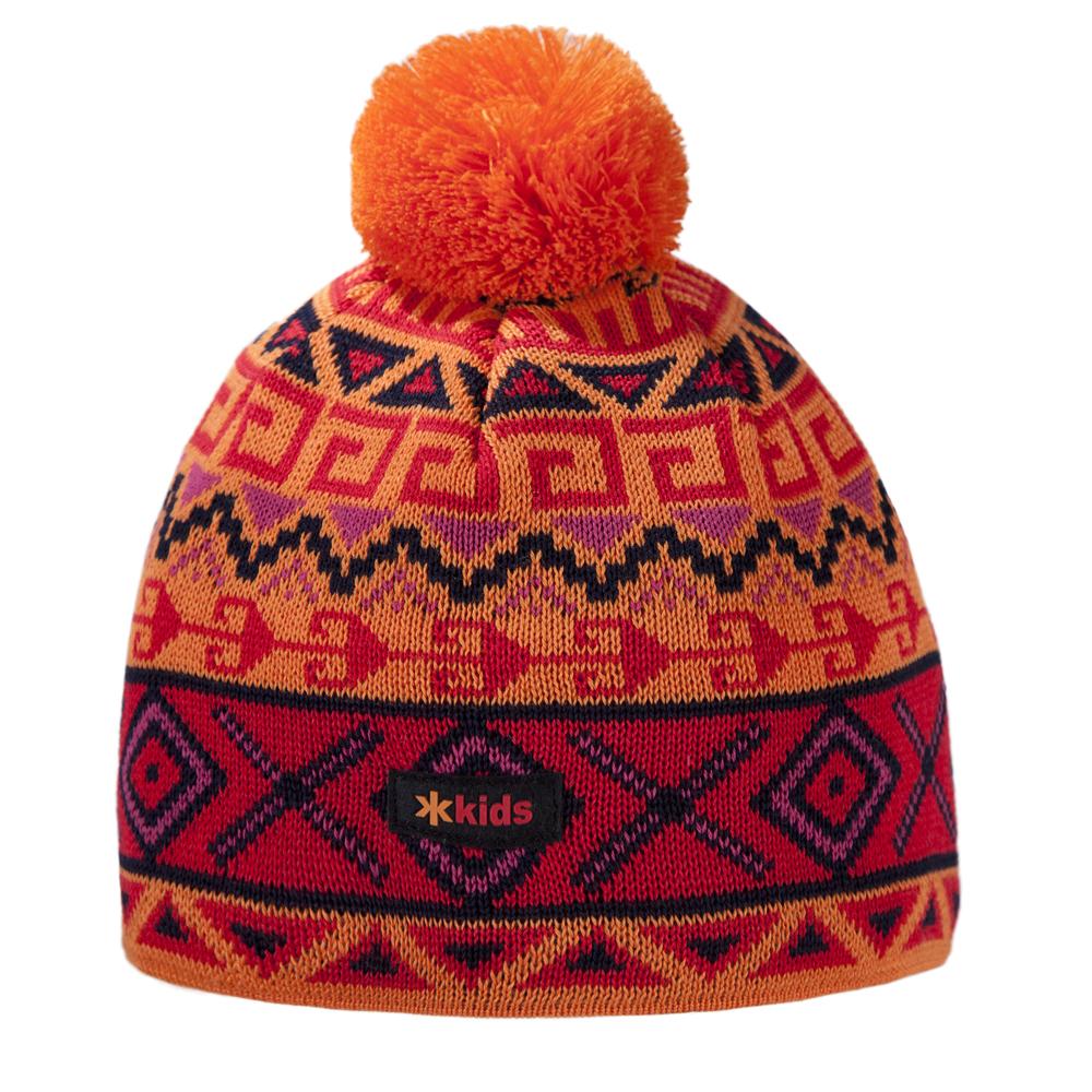 шапка kama для девочки, оранжевая