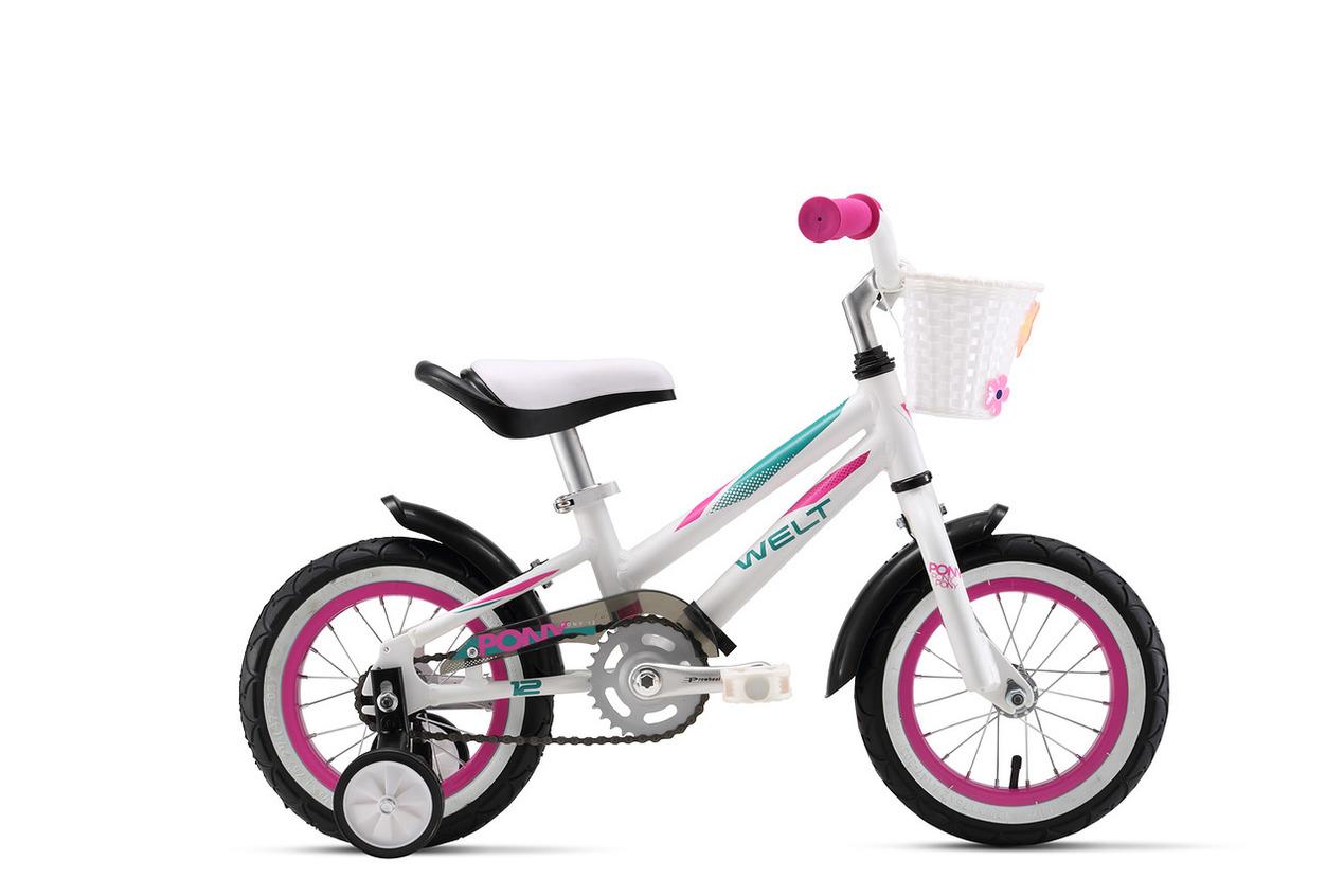 Велосипед Welt Pony 12 2017 White/purple/mint Green
