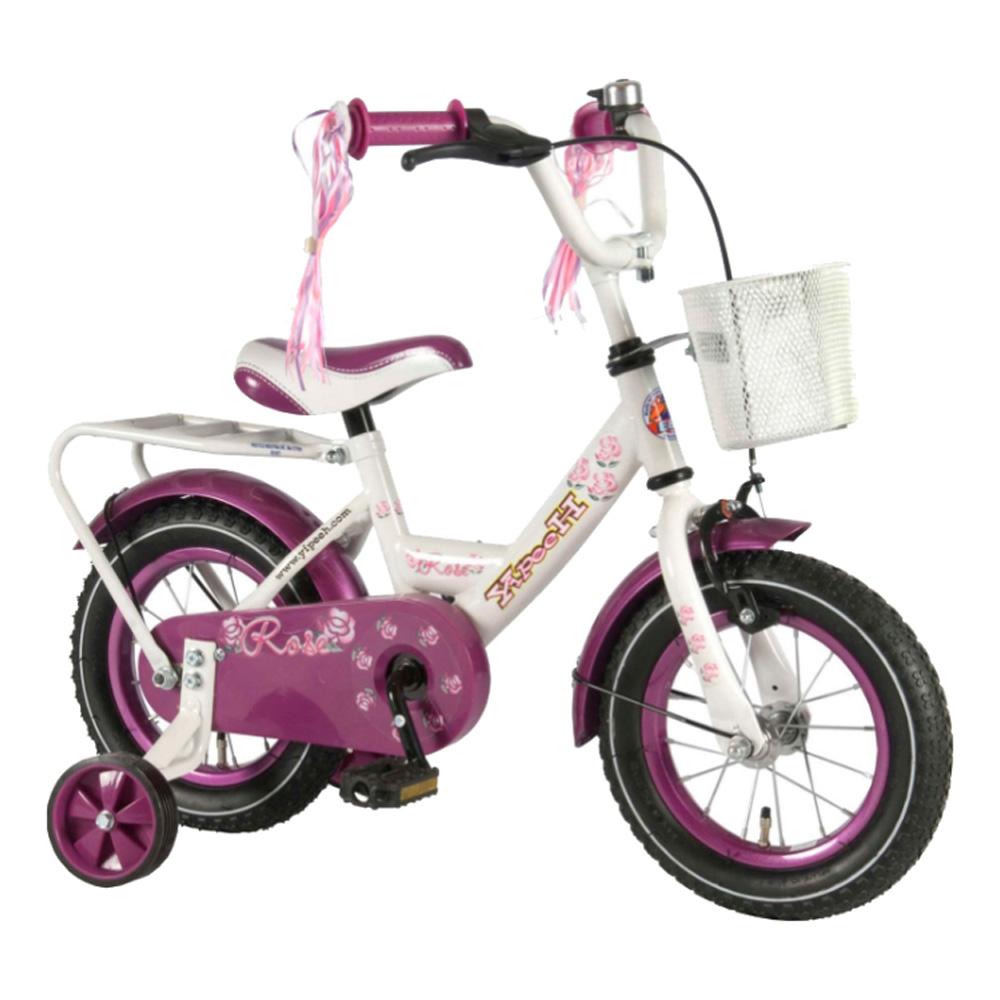 Велосипед Volare Rose 12 2014 Белый/фиолетовый