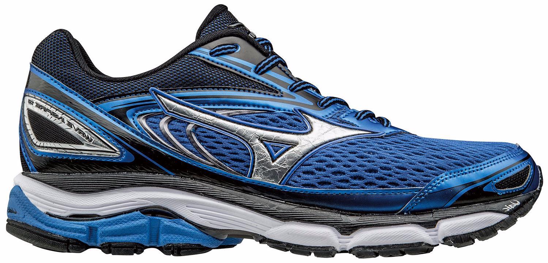 Купить Беговые кроссовки элит Mizuno 2017 WAVE INSPIRE 13 синий/серебряный/черный / Кроссовки для бега 1334607
