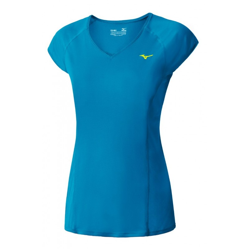 Купить Футболка беговая Mizuno 2016 Cooltouch Phenix Tee голубой, Одежда для бега и фитнеса, 1264889