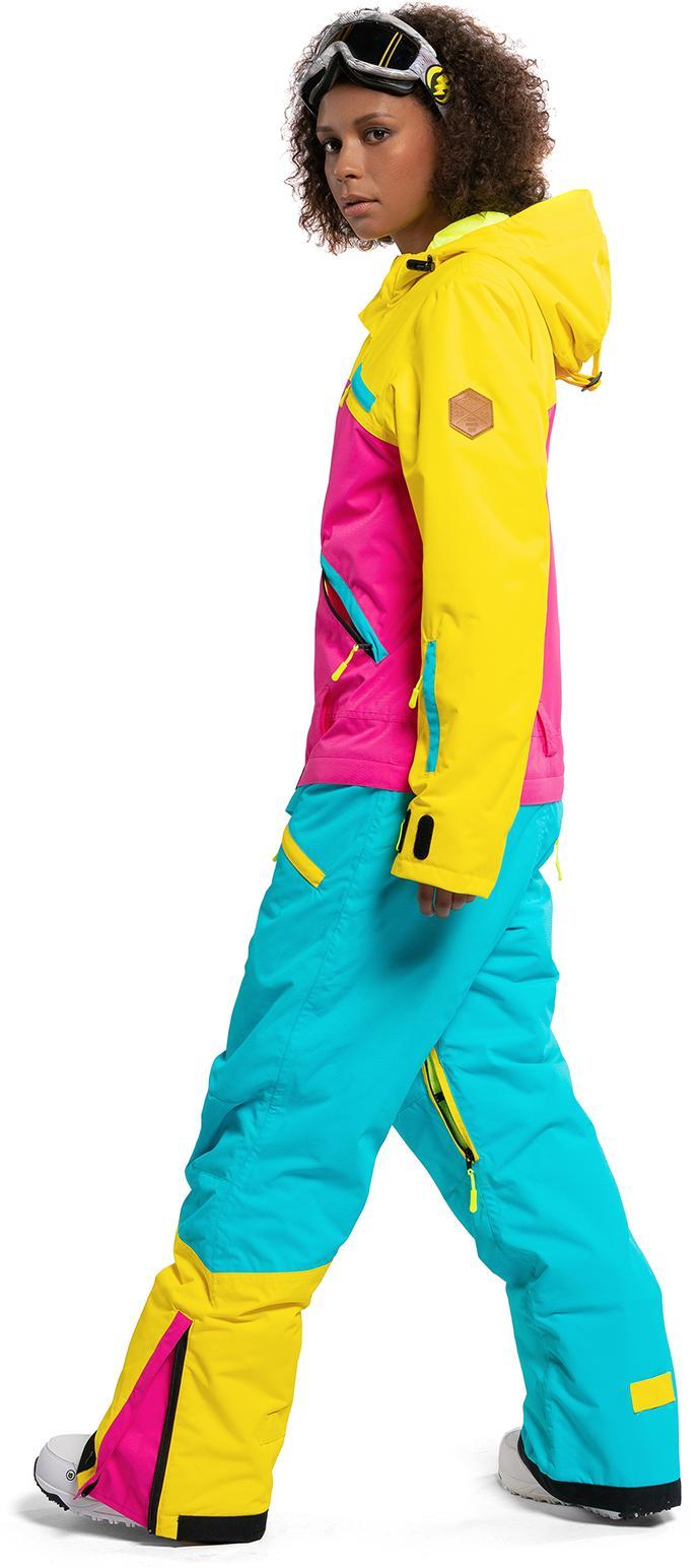 Женская одежда  Код товара для заказа по телефону  1452086. Комбинезон  сноубордический COOLZONE 2018-19 MIX желтый цикламен бирюза 2266aa33243