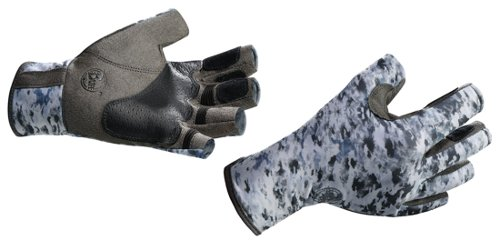 Купить Перчатки рыболовные BUFF Pro Series Angler Gloves Fish Camo (серо-белый камуфляж) Перчатки, варежки 849397
