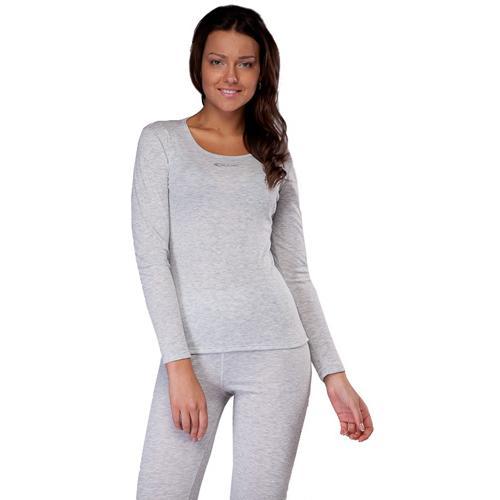 Футболка С Длинным Рукавом Accapi Long Sl.wide Neck T-Shirt Lady (Silver) Серый