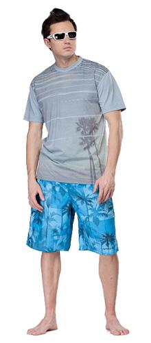Шорты для активного отдыха RIPZONE 2012 TROPICAL Electric Blue Combo синий/принт Одежда туристическая 788343  - купить со скидкой