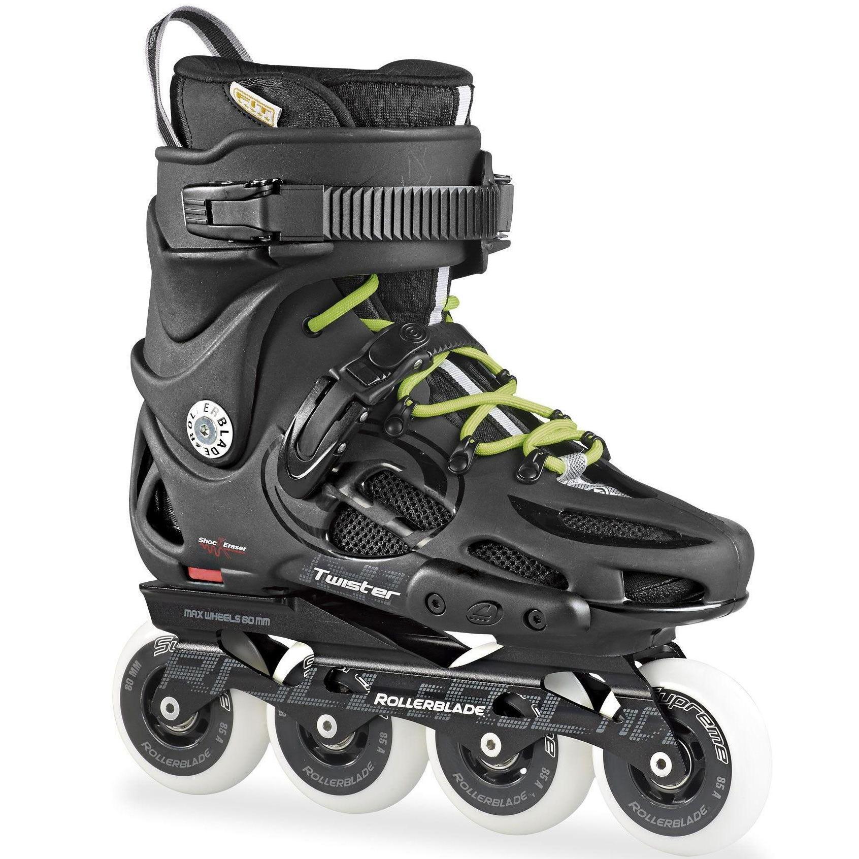 Купить Роликовые коньки Rollerblade 2016 TWISTER 80 BLACK/GREY / чёрный/серый Ролики взрослые 1177987