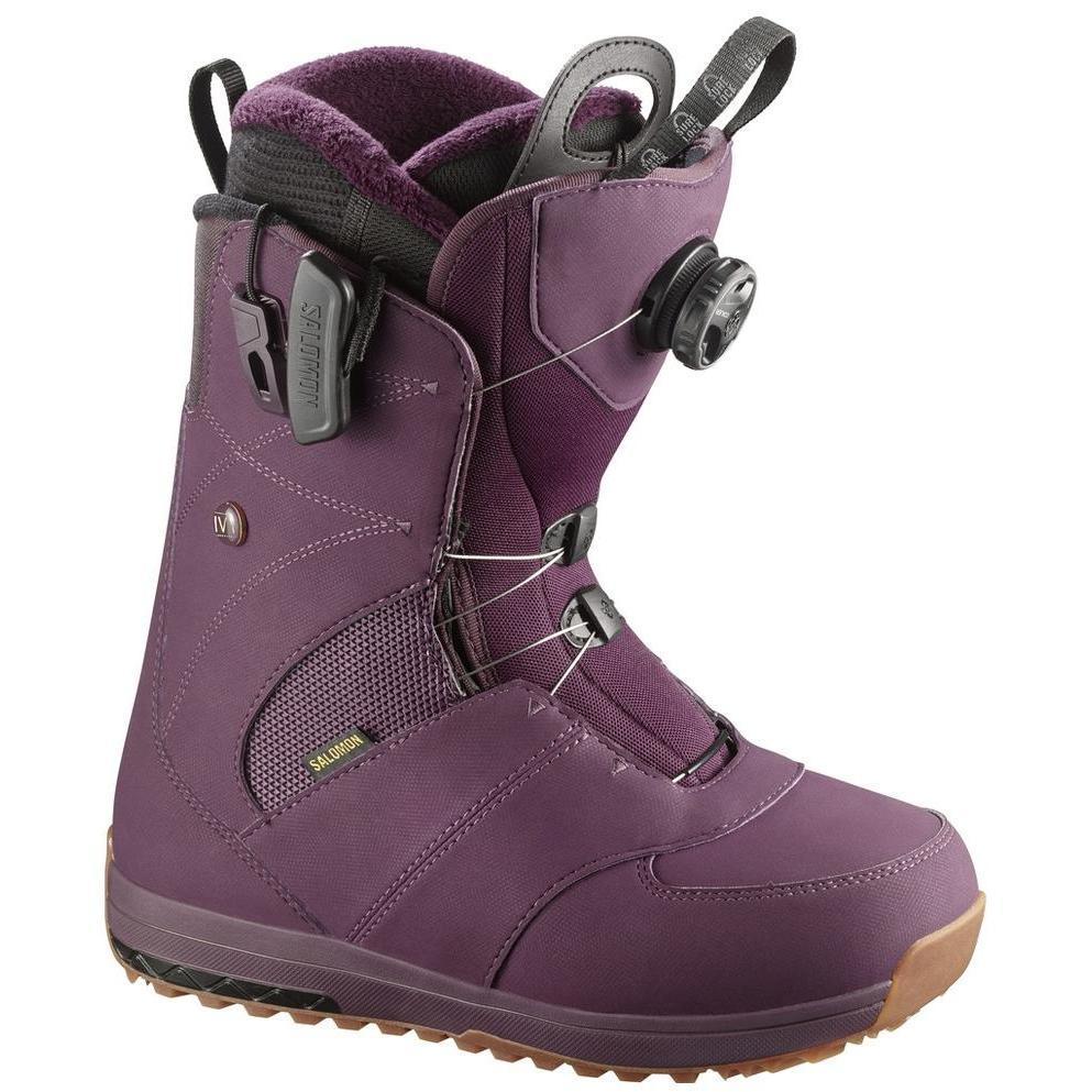 Ботинки для сноуборда SALOMON 2017-18 IVY BOA Bordeaux - купить ... 9c134aab67c