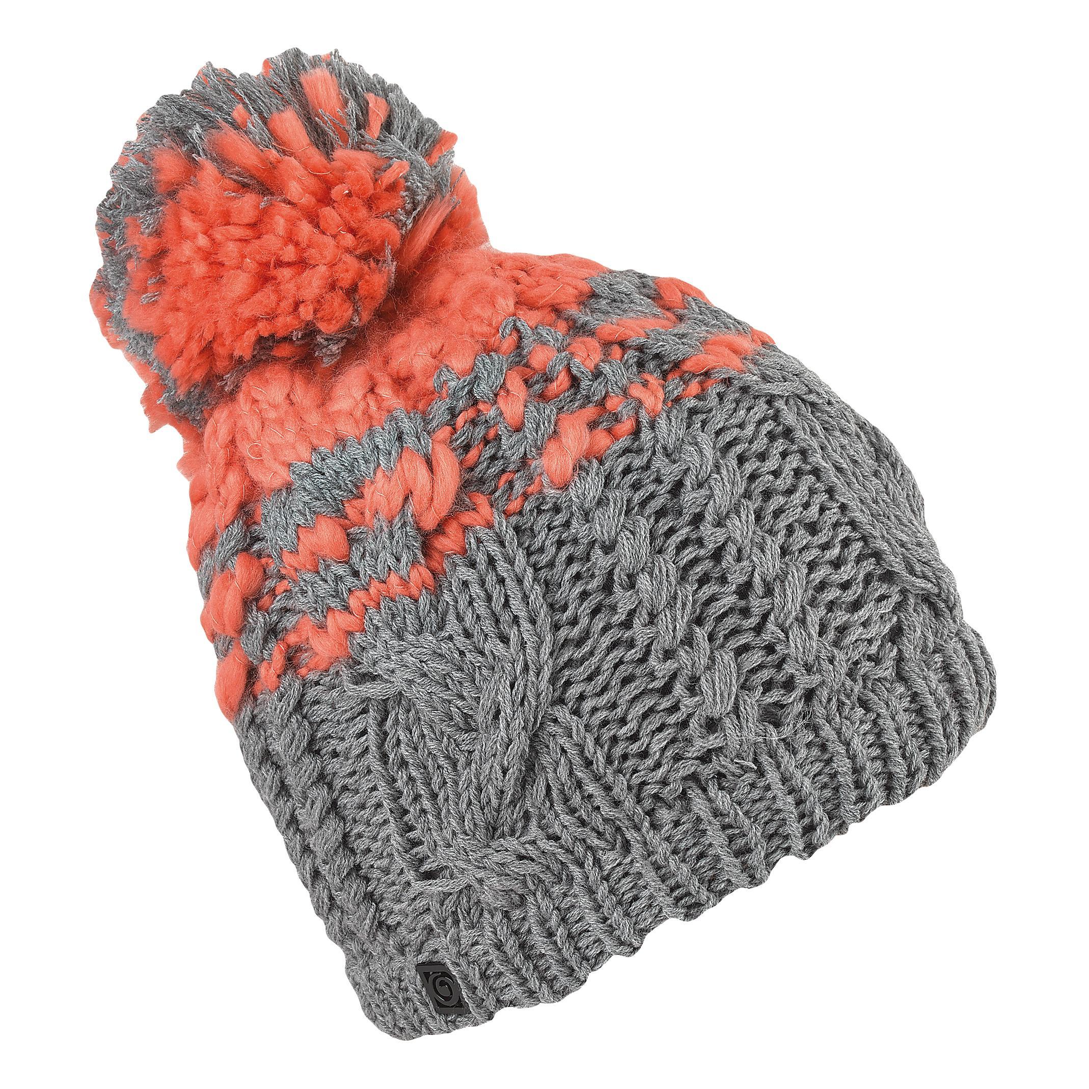 женская шапка brekka, серая