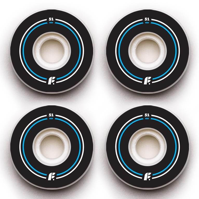 Колеса (4 Штуки) Для Скейтборда Footwork 2018 Basic Side Cut Shape 100A 53 Mm