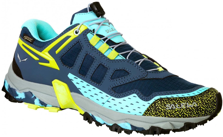 Купить Ботинки для хайкинга (низкие) Salewa 2017-18 WS ULTRA TRAIN GTX Dark Denim/Aruba Blue, Треккинговые кроссовки, 1374042