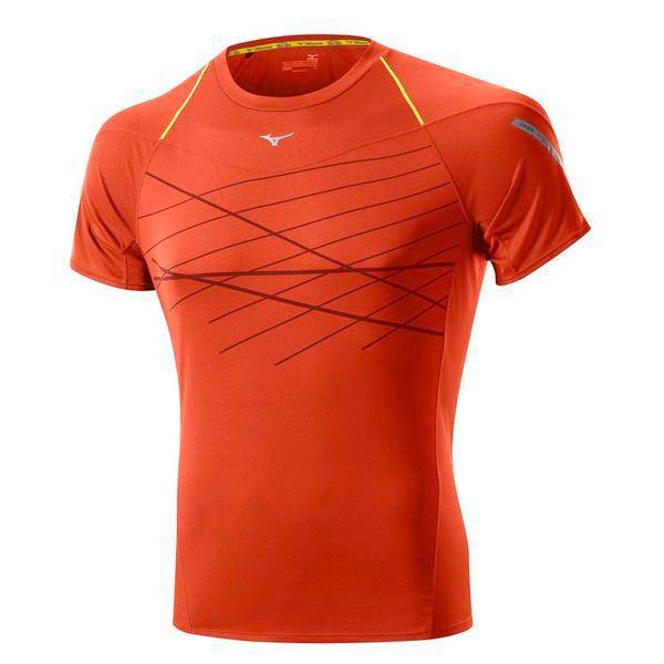 Футболка беговая Mizuno 2014 DryLite Cooltouch Tee оранж, Одежда для бега и фитнеса, 1139422  - купить со скидкой