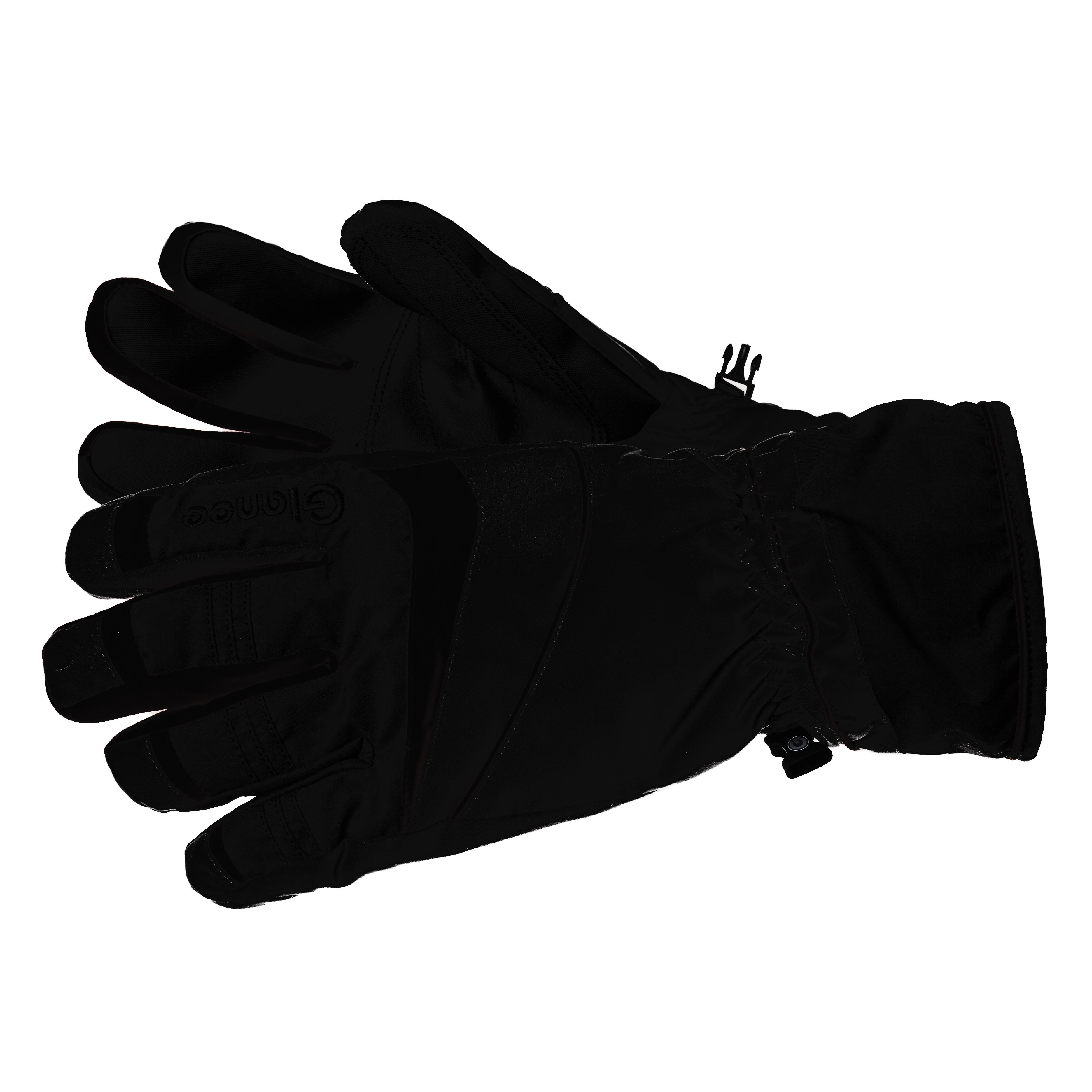 Купить Перчатки горные GLANCE Uno black/black/black (черный) Перчатки, варежки 862748