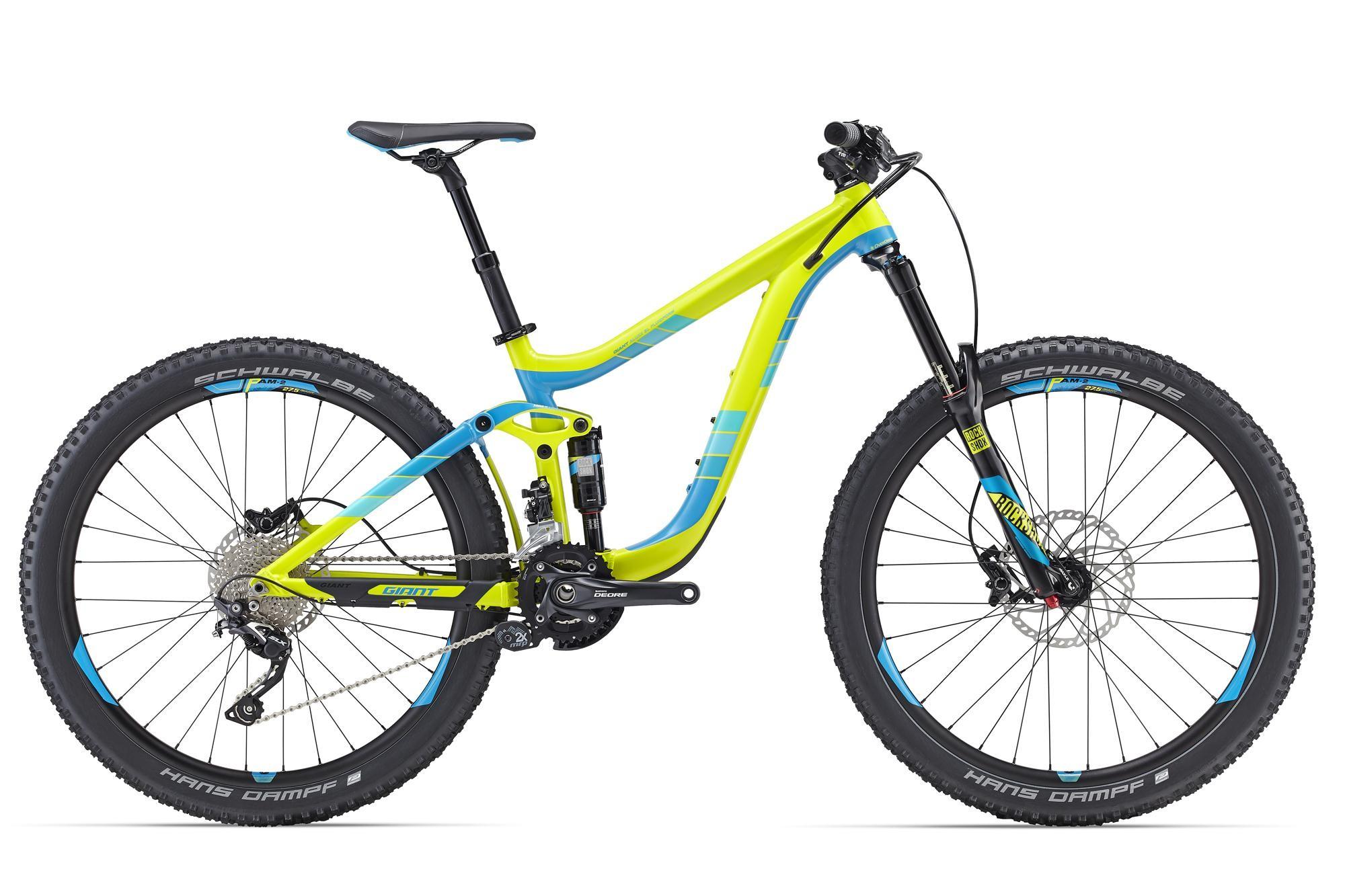 Купить Велосипед Giant Reign 27.5 2 2016 YELLOW/BLUE / Желтый Синий, Двухподвесы, 1262301