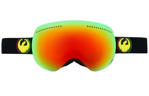 Купить Очки горнолыжные DRAGON 2014-15 APX Rasta/RedIon+YellwBluIon, горнолыжные, 1134829