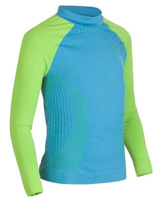 Купить Футболка с длинным рукавом Bjorn Daehlie High Neck PROLOGUE Junior Hawaiian Ocean/Jasmine Green (голубой/зеленый) Одежда лыжная 861036