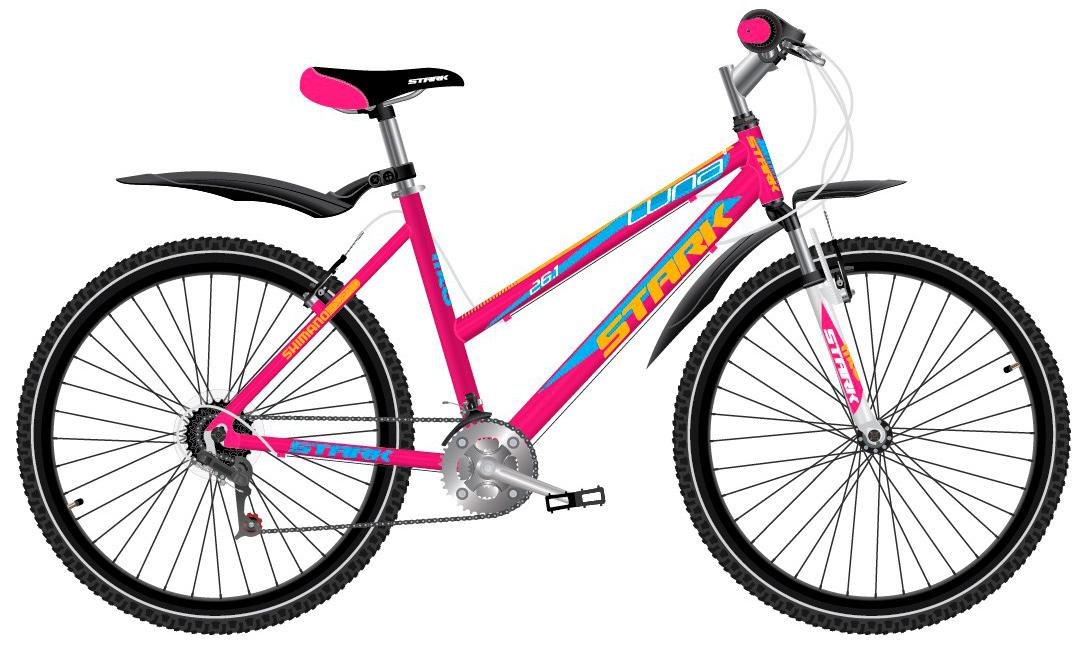 Купить Велосипед Stark Luna 26.1 V 2017 Розово-Желтый Горные 1317828