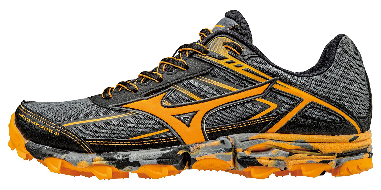 Беговые кроссовки для XC Mizuno 2017 WAVE HAYATE 3 (W) т.серый/оранжевый/черный / Кроссовки бега 1326204  - купить со скидкой