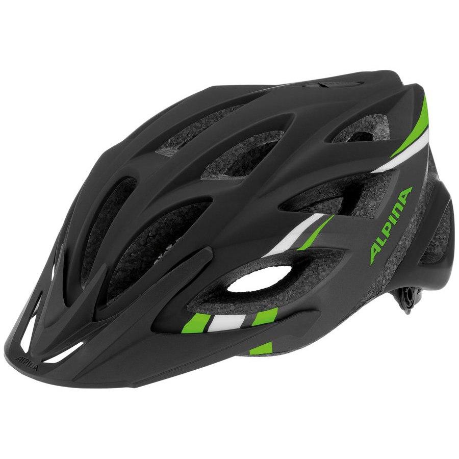 Летний шлем Alpina TOUR Skid 2.0 L.E. black-darkgrey-green, Шлемы велосипедные, 1180001  - купить со скидкой