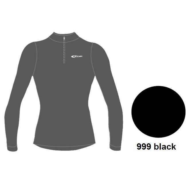 Футболка С Длинным Рукавом Accapi Tecnosoft Plus Long Sl.t-Shirt 1/2 Zip Lady (Black) Черный