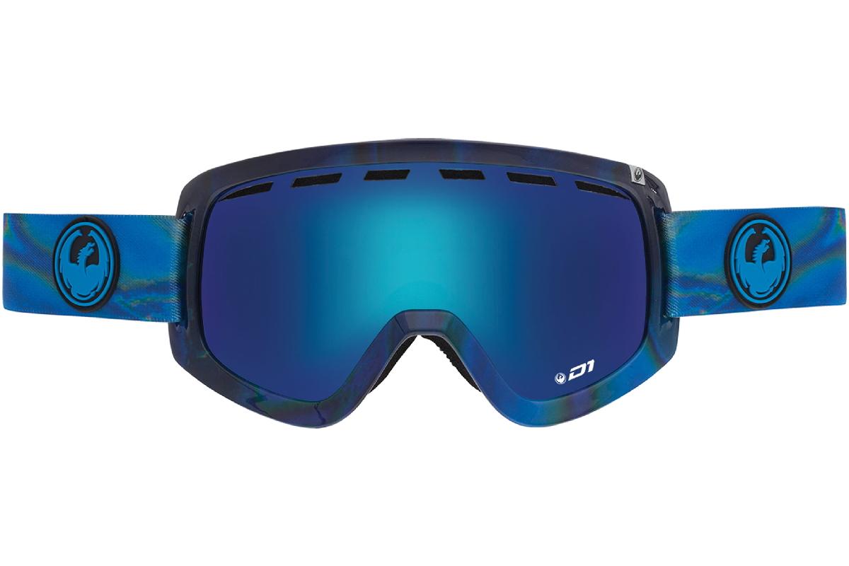 Купить Очки горнолыжные DRAGON 2015-16 D1 Spill / Blue Steel, Yellow Red Ion, горнолыжные, 1220957