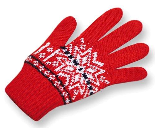 женские перчатки kama, красные