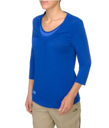 Купить Футболка с длинным рукавом туристическая THE NORTH FACE 2014 TKW HIKING W HAV A BRK 3/4 SL T MARKER BLUE синий Одежда 1130149