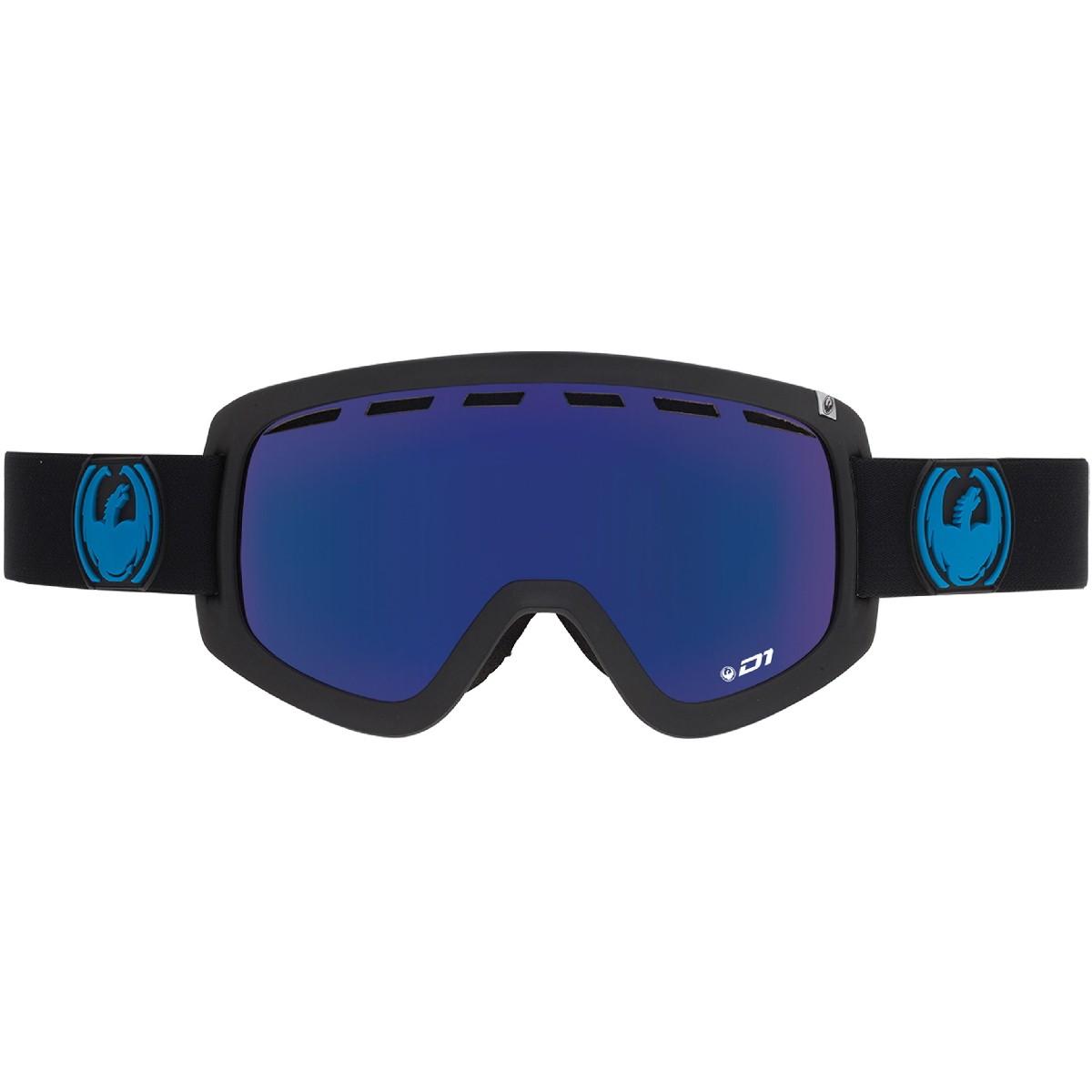 Купить Очки горнолыжные DRAGON 2016-17 D1 Jet / Dark Smoke Blue, горнолыжные, 1299463