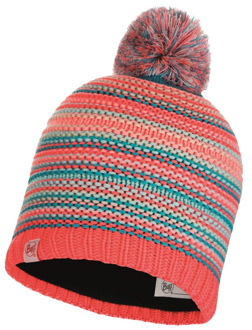 Шапка Buff Jr Knitted & Polar Hat Amity Coral Pink Jr
