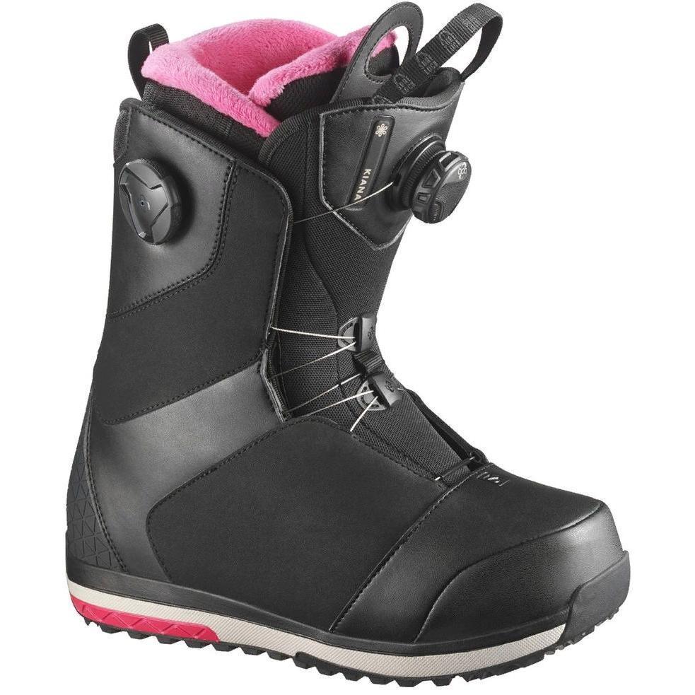 Ботинки для сноуборда SALOMON 2017-18 KIANA FOCUS BOA BLACK - купить ... 66295fa3a67
