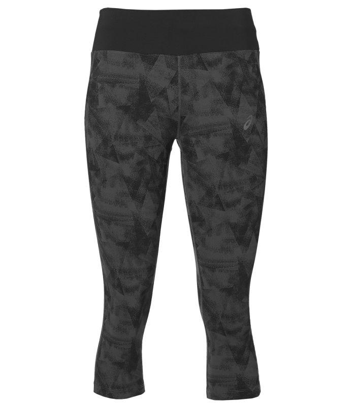 Купить Тайтсы 3/4 Беговые Asics 2017 Fuzex Knee Tight Серый/черный, женский, Одежда для бега и фитнеса