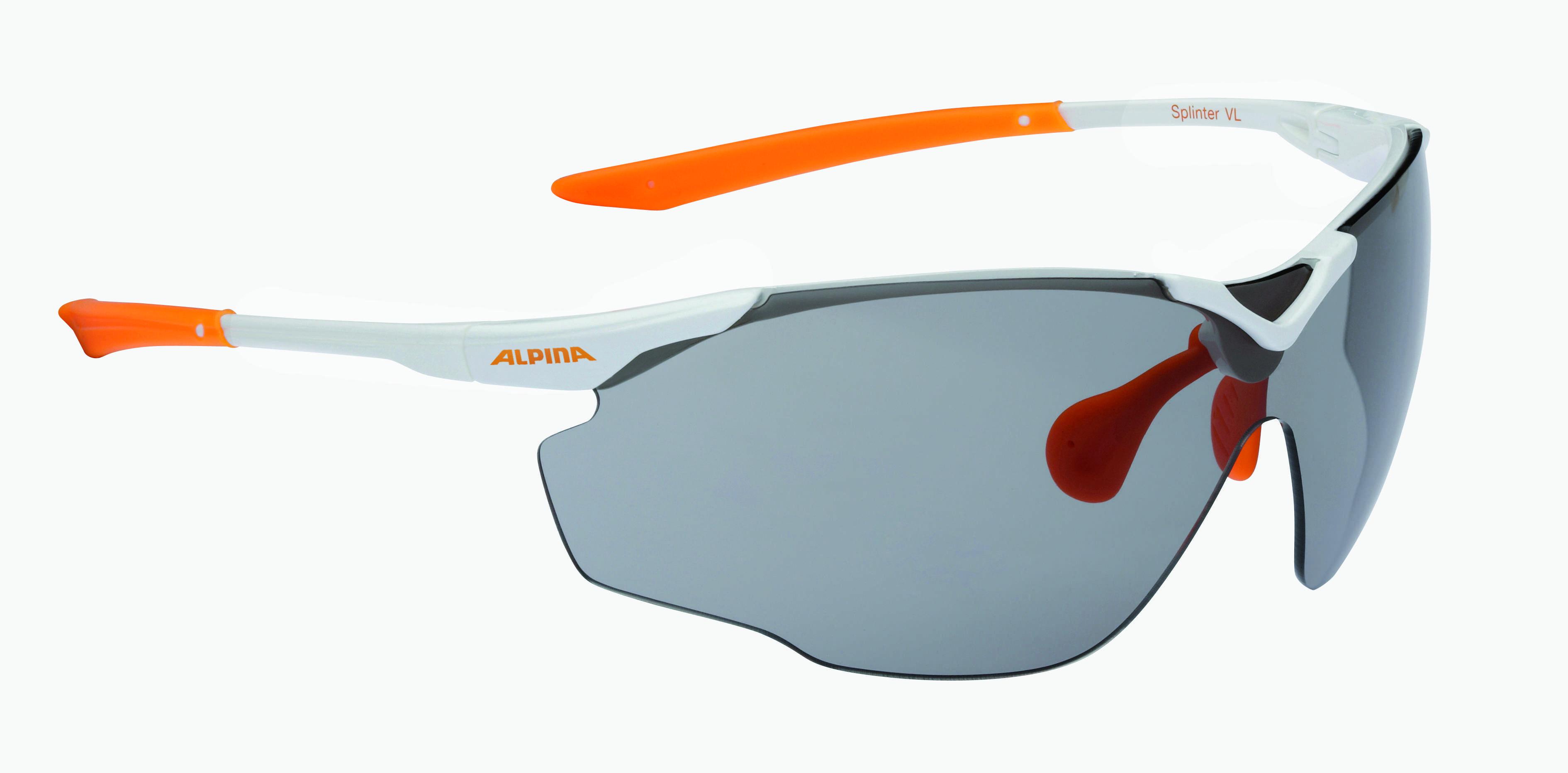 Купить Очки солнцезащитные Alpina PERFORMANCE SPLINTER SHIELD VL white-orange, солнцезащитные, 1180539