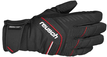 Перчатки горные REUSCH 2012-13 SKI PISTE Linus GTX black / fire red