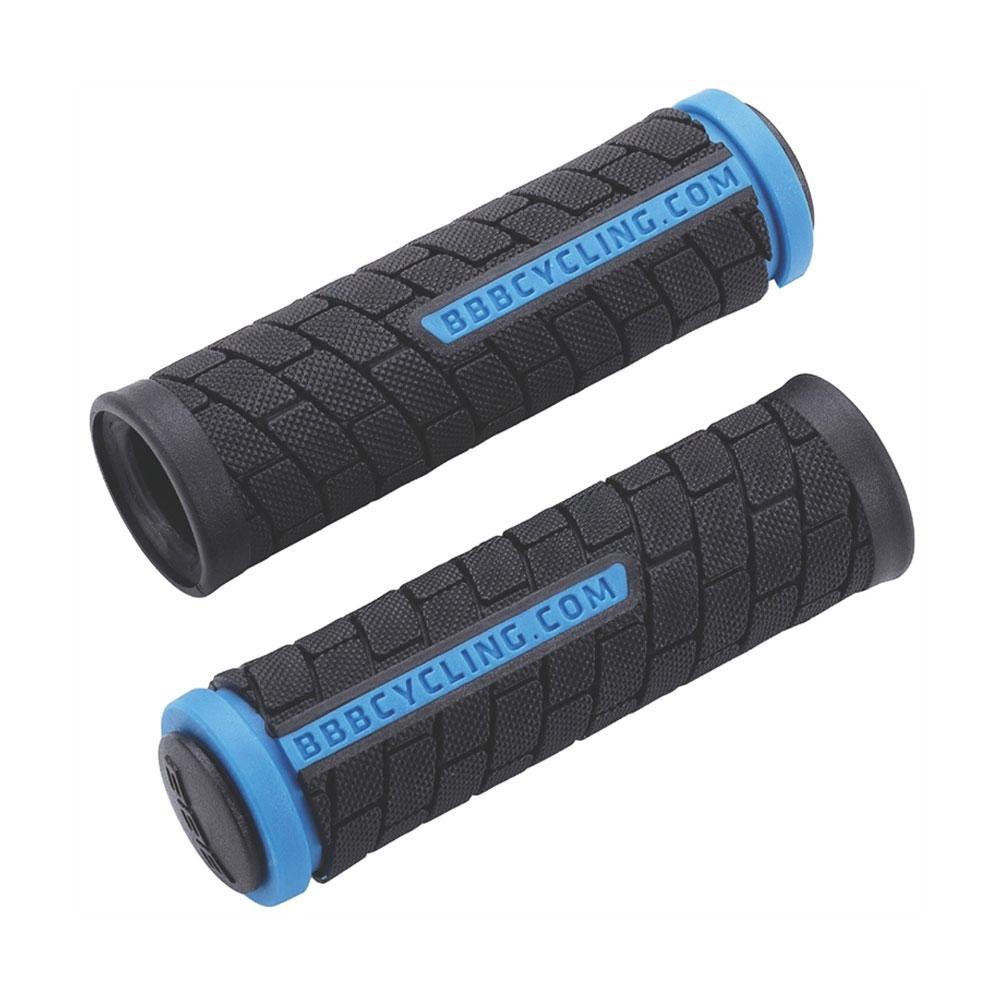 Купить Грипсы BBB DualGrip 102 mm. black/blue, Рулевое управление, 64653