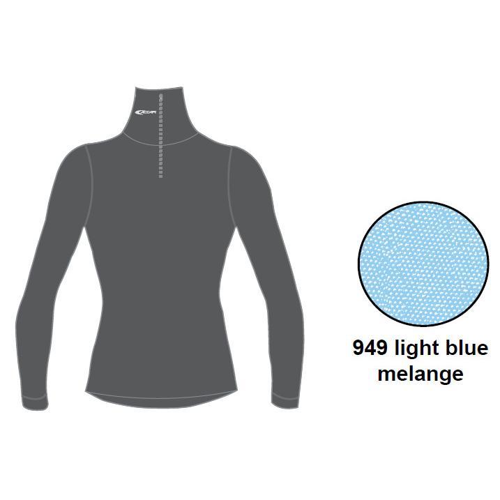 Футболка С Длинным Рукавом Accapi Tecnosoft Plus Turtleneck Sw. 1/2 Zip Lady (Light Blue Mel) Синий