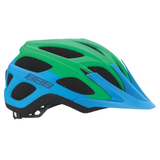 Велошлем Bbb 2018 Varallo Синий/зелёный